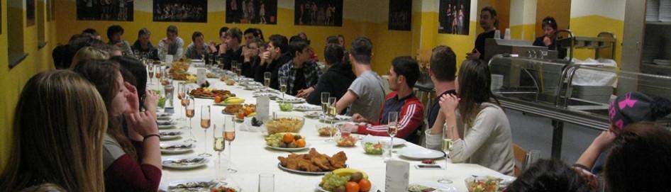 Slavnostna večerja v dijaškem domu